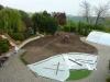 Příprava terénu pro pokládku travního koberce